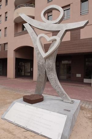 Sculpture hommage aux donneurs à Lyon