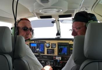 Passionné d'aviation, même après une greffe de rein