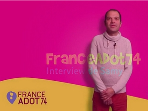 Samy, greffé du coeur, bénévole de FRANCE ADOT 74
