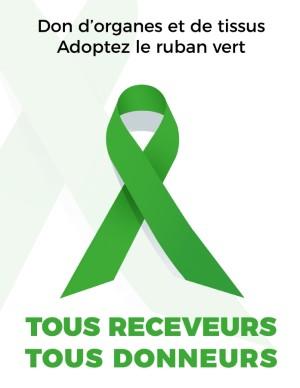 Ruban Vert Tous Receveurs Tous Donneurs