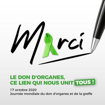 Ruban Vert et Journée Mondiale du Don d'Organes